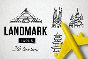 36 Monument Landmark Icons - Travel