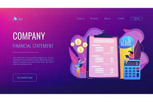 Income statement concept landing