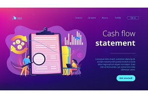 Cash flow statement concept landing