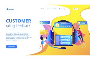 Customer feedback concept landing