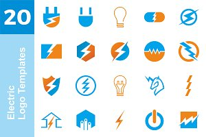 20 Logo Electric Templates Bundle