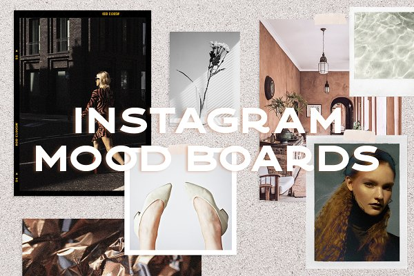 Social Media Templates: Karissa Felice - Vintage Mood Boards for Instagram