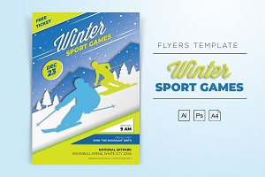 Winter Sports Games Flyers
