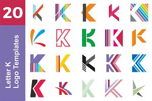 20 Logo Letter K Templates Bundle