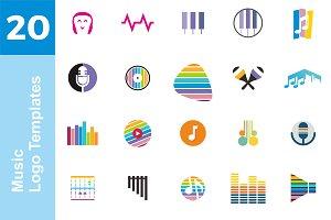 20 Logo Music Templates Bundle