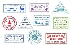 Santa mail, Christmas post stamps