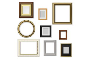 Picture and photo frames, borders
