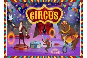 Big top circus show magician