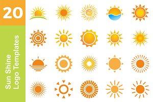 20 Logo Sun Shine Templates Bundle
