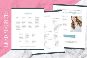 Meal Plan + Recipe Canva Template