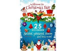 Christmas fair invitation, presents