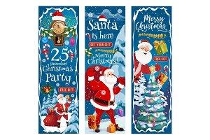 Santa, Christmas tree with gifts
