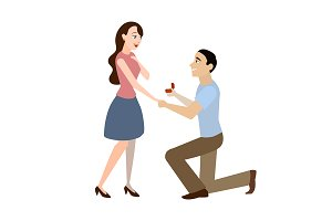 Offer of Marriage Man and Woman