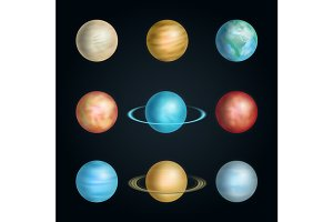 Realistic 3d Solar System  Planet