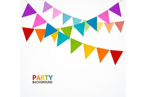 Party Concept Banner Card