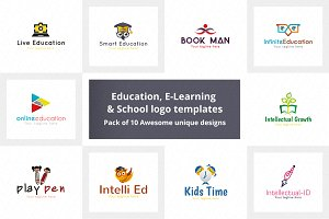 Education, E-Learning & School Logo