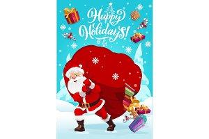 Christmas, Santa carry torn bag