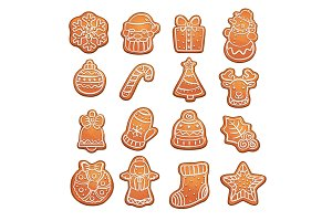 Gingerbread cookies Christmas pastry