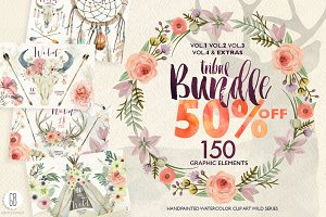 50% OFF Wild watercolor collection +