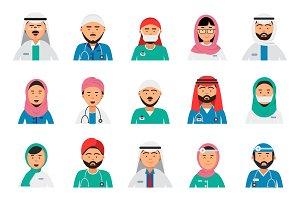 Arabic doctors avatars. Dentist