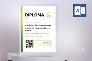 .docx Diploma Template QR code