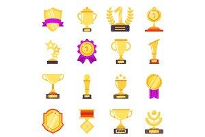 Trophy symbols. Achievement awards