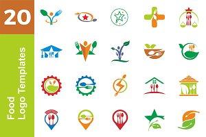 20 Logo Food Templates Bundle