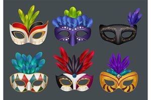 Masquerade masks realistic. Masked