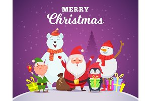Holiday winter background. Christmas