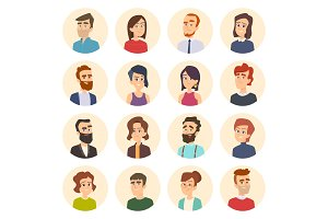 Business avatars. Colored web
