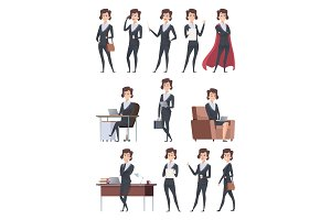 Female business characters. Company