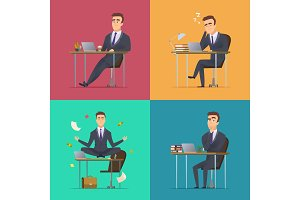 Businessman scenes. Office manager
