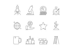 Startup business icon. Creative