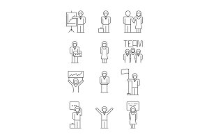 Business people icon. Team office