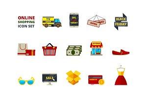 Web store icon. Online shop payment