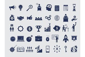 Business symbols collection. Diagram