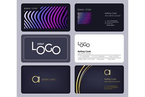 Business cards template. Corporate