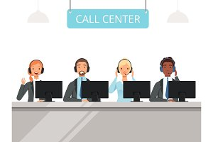 Call center characters. Business