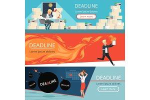 Deadline banners. Workload office