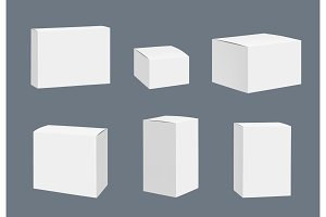 Blank packages mockup. Quadrate
