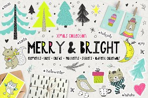 Merry & Bright Xmas - holiday set