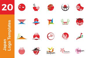 20 Logo Japan Templates Bundle