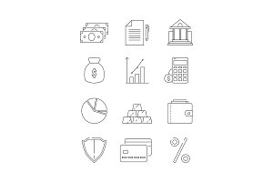 Finance icons. Business and bank