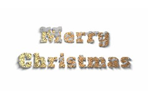 Merry Christmas lettering written by