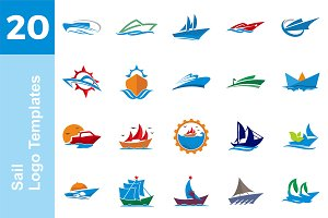 20 Logo Sail Templates Bundle