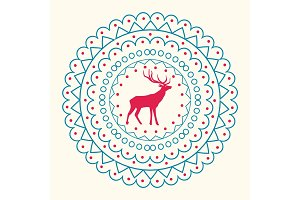 Christmas Pattern and Reindeer