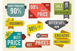 Hot Prices Best Discounts Vector