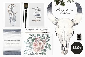 -30% MODERN BOHO: watercolor set