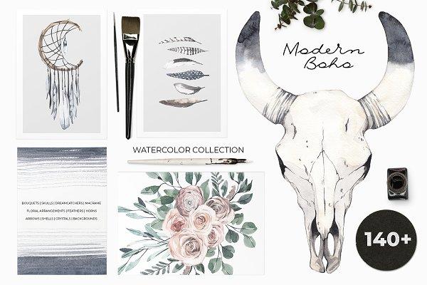 MODERN BOHO: watercolor set