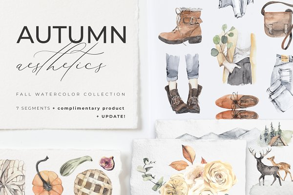 AUTUMN AESTHETICS watercolor set